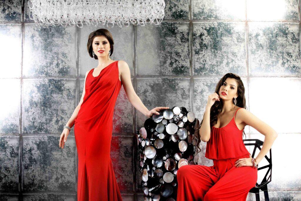 ファッションモデルの2人